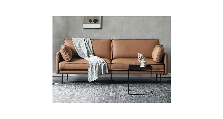 皮艺沙发组合 接待洽谈办公沙发 木质框架沙发