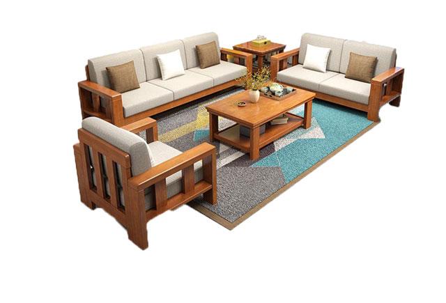 中式会客沙发 沙发茶几组合 商务休闲沙发 BYSF020
