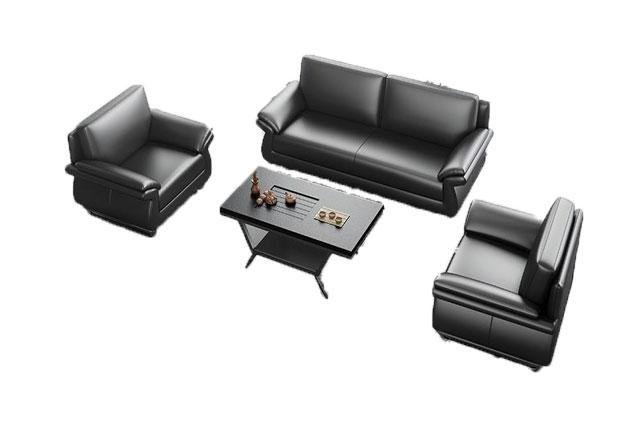 办公大厅沙发 总裁室真皮沙发 总经理室真皮沙发 WSF001