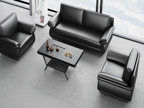 总裁室真皮沙发