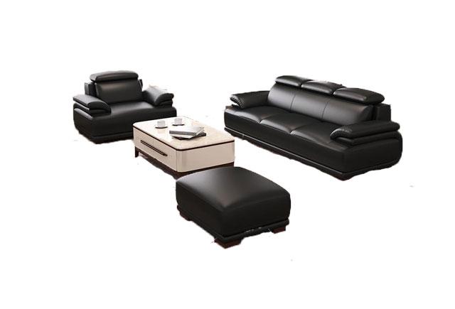 真皮办公室沙发茶几 商务接待沙发茶几 上海办公家具沙发 WSF009