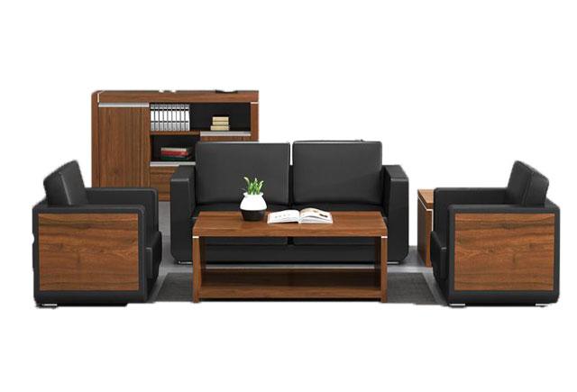 办公室用三人实木沙发_实木框架贵宾坐沙发