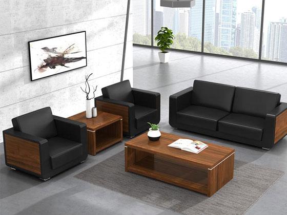 实木框架办公沙发