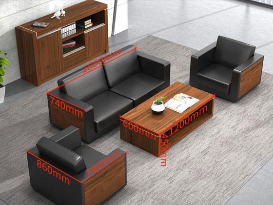 办公室用三人实木沙发尺寸
