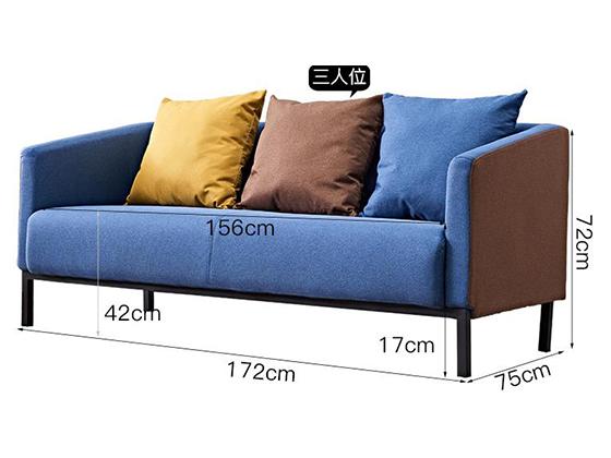 绿色布艺组合沙发
