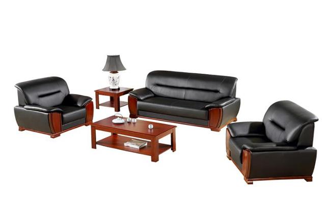 现代简约办公真皮沙发 总经理办公室沙发 现代办公沙发 WSF013