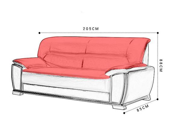 现代简约办公真皮沙发