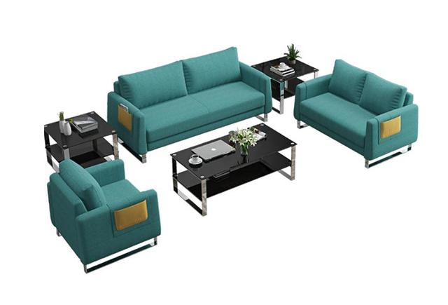 时尚公司沙发 果绿色休闲沙发 员工休息区沙发 BYSF012