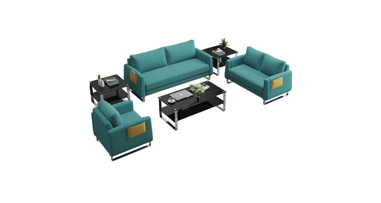 果绿色休闲沙发