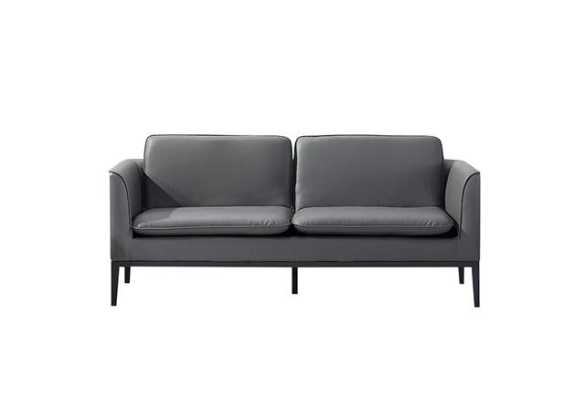 黑色商用沙发 公司接待沙发 真皮接待沙发 WSF026