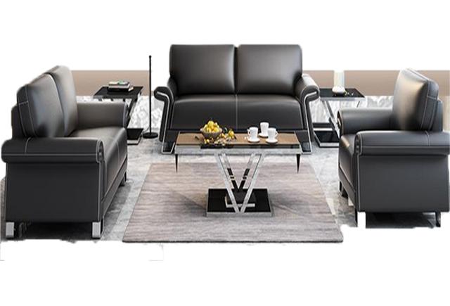时尚真皮办公沙发 总裁室会客区沙发 WSF042