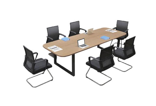 简约现代会议桌 时尚钢架会议桌