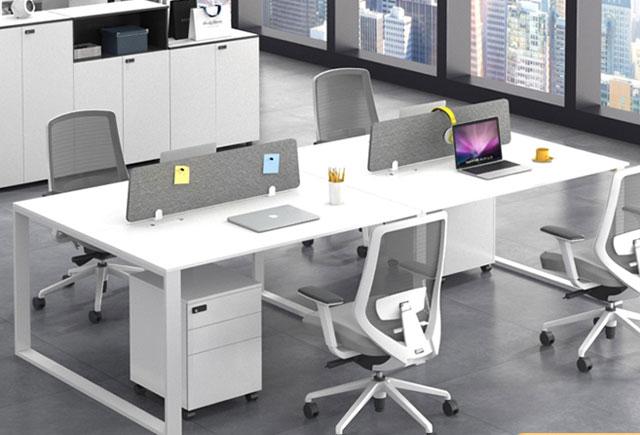 纯白色简约时尚办公桌-纯白色简约时尚办公桌定制