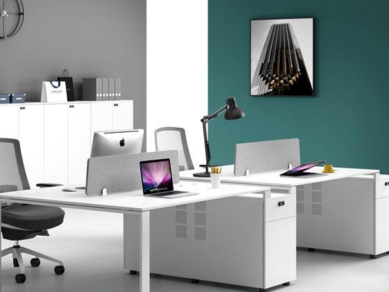 纯白色简约时尚办公桌