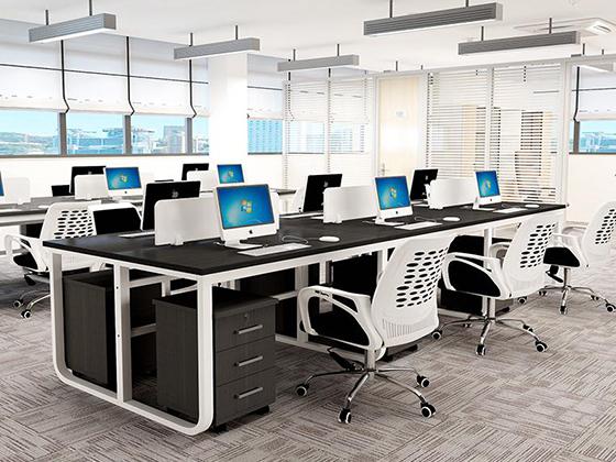 铝合金腿隔断办公桌