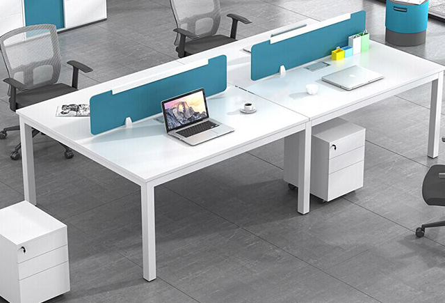 六人屏风工作位-六人位办公位屏风设计-条形屏风工作位