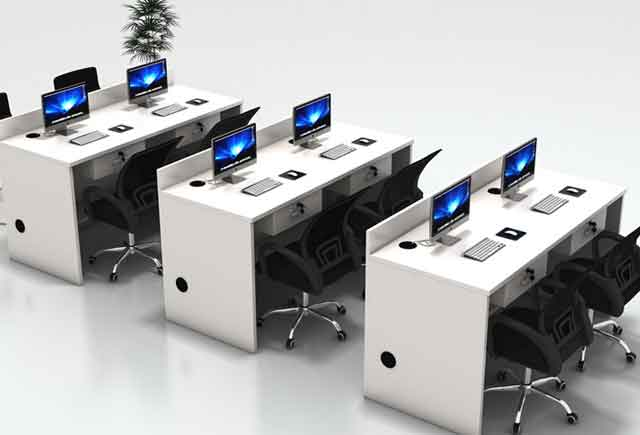 圆形四人办公桌-圆形四人办公桌样式