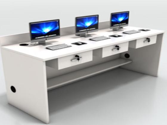 圆形四人办公桌