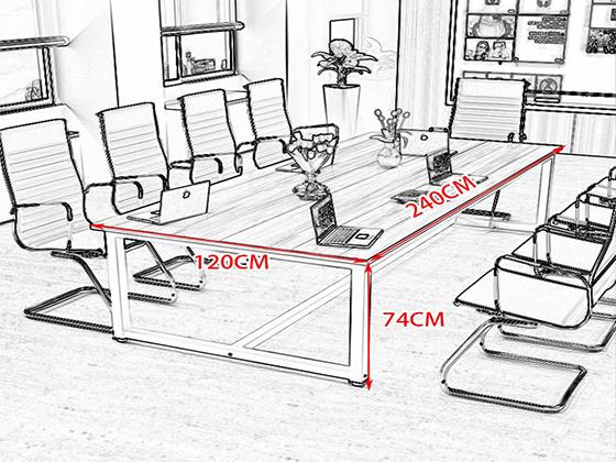 长条会议桌尺寸尺寸-会议桌-品源会议桌