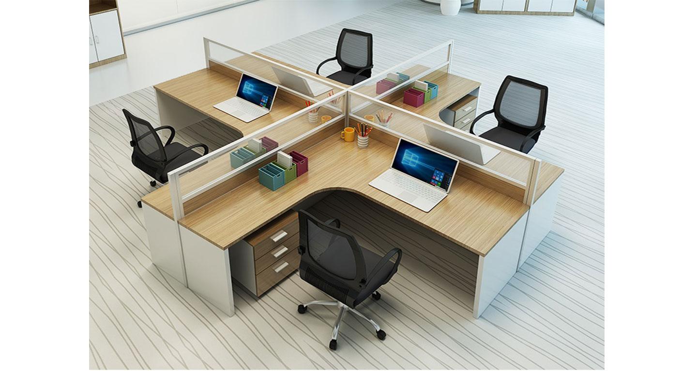 四位办公卡位尺寸 -屏风办公桌-品源办公桌