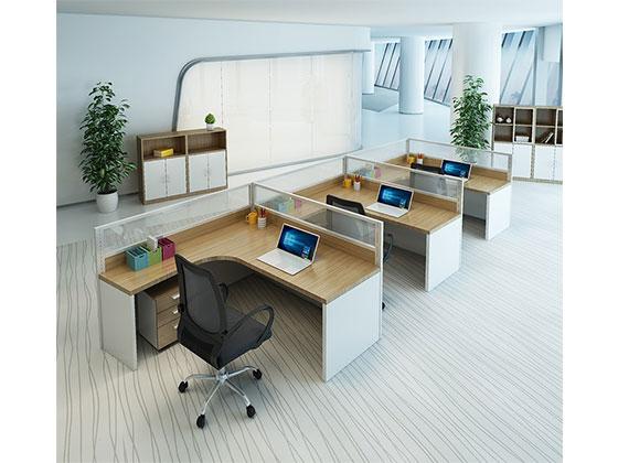 四人屏风办公卡位 -屏风办公桌-品源办公桌