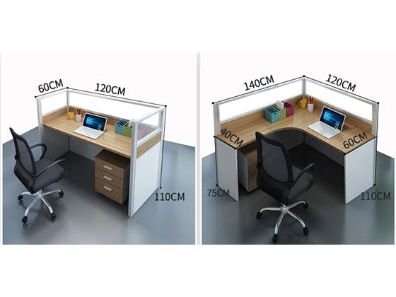 四人屏风办公卡位尺寸-屏风办公桌-品源办公桌