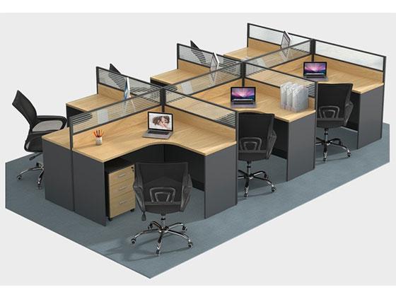 六人位屏风-隔断办公桌-品源办公桌