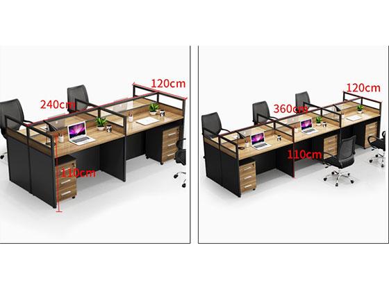 职员办公桌卡座样式尺寸-屏风办公桌-品源办公桌