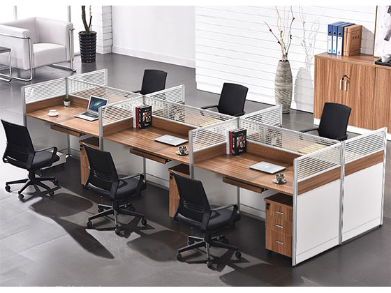 办公桌铝合金隔断价格-屏风式办公桌-品源办公桌