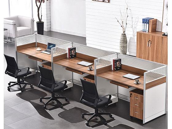办公桌铝合金隔断-隔断办公桌-品源办公桌