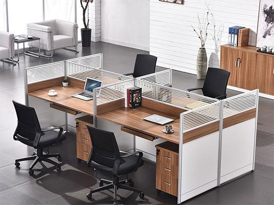办公桌铝合金隔断价格-隔断式办公桌-品源办公桌