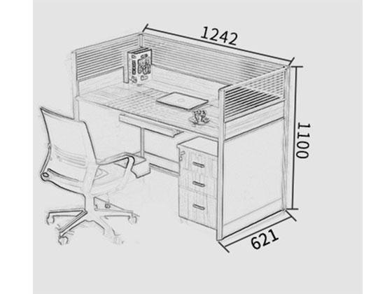 办公桌铝合金隔断尺寸-屏风办公桌-品源办公桌