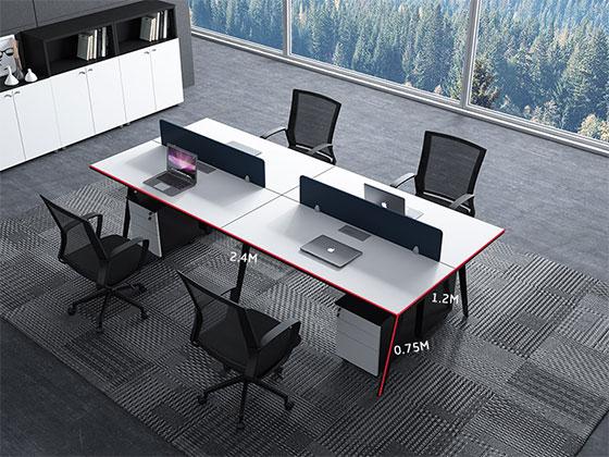 公司办公电脑桌尺寸-屏风办公桌-品源办公桌