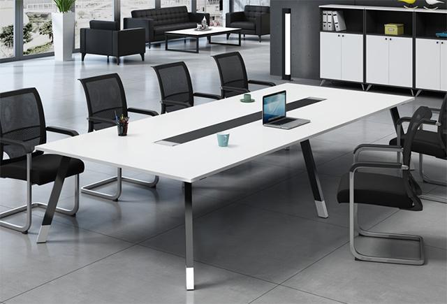 会议桌长桌-简约现代小型板式培训桌-长方形办公桌椅-长条桌