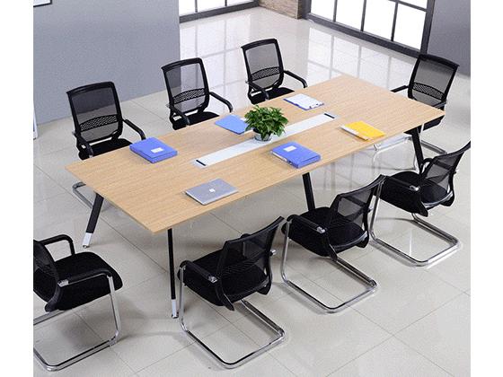 长方形办公桌椅-会议桌尺寸-品源会议桌