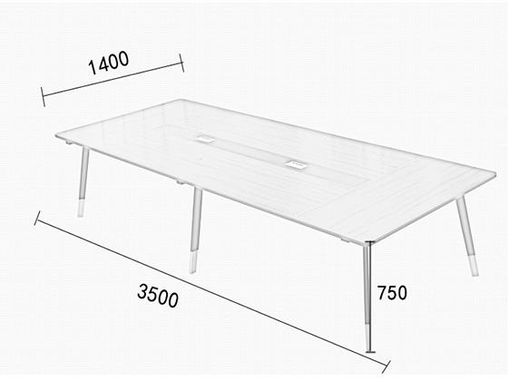 简约现代小型板式培训桌尺寸-会议桌-品源会议桌