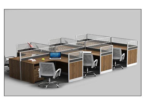 6人办公隔断-屏风办公桌-品源办公桌