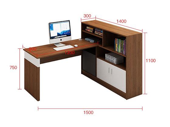 屏风带层板工作位 尺寸-屏风办公桌-品源办公桌