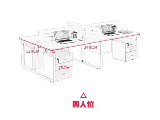 职员区屏风办公桌尺寸-屏风办公桌-品源办公桌