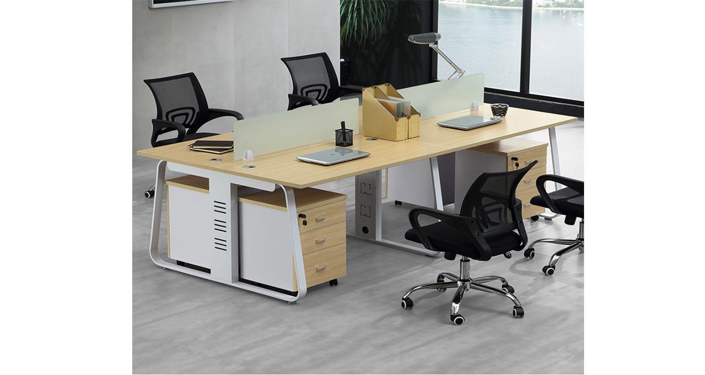 四人组合办公桌尺寸-屏风办公桌-品源办公桌