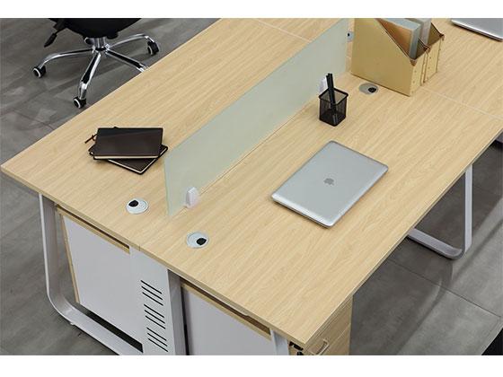 四人办公桌组合尺寸屏风办公桌-品源办公桌