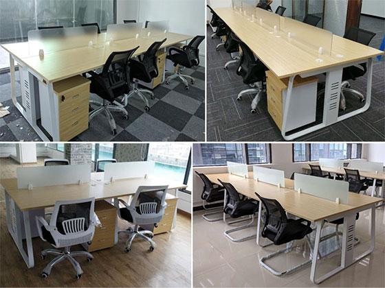 四人办公桌组合尺寸-隔断式办公桌-品源办公桌