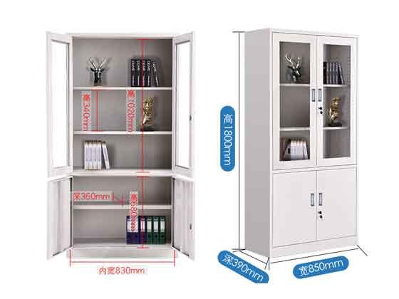 办公室铁皮文件柜尺寸-办公室文件柜-品源文件柜
