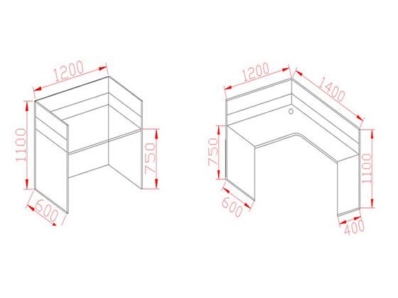 连体办公桌尺寸-屏风办公桌-品源办公桌