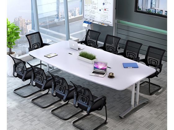 简约现代椭圆形办公桌-会议桌定制-品源会议桌