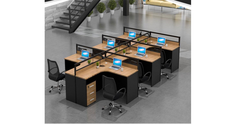六人开放式办公桌-屏风式办公桌-品源办公桌