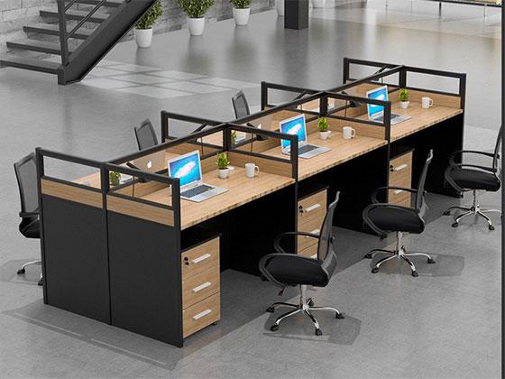 六人办公桌尺寸-隔断办公桌-品源办公桌