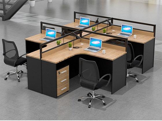 六人开放式办公桌-隔断式办公桌-品源办公桌