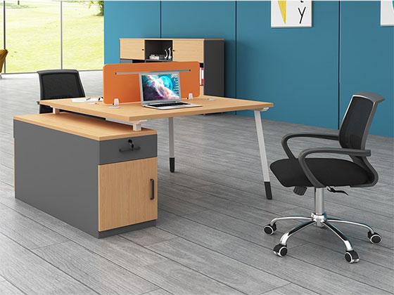 两人位工作位样式-屏风办公桌-品源办公桌
