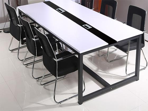 六人会议桌-会议桌尺寸-品源会议桌